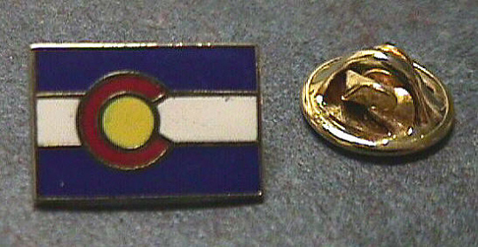 Pin, Lapel, Colorado Flag