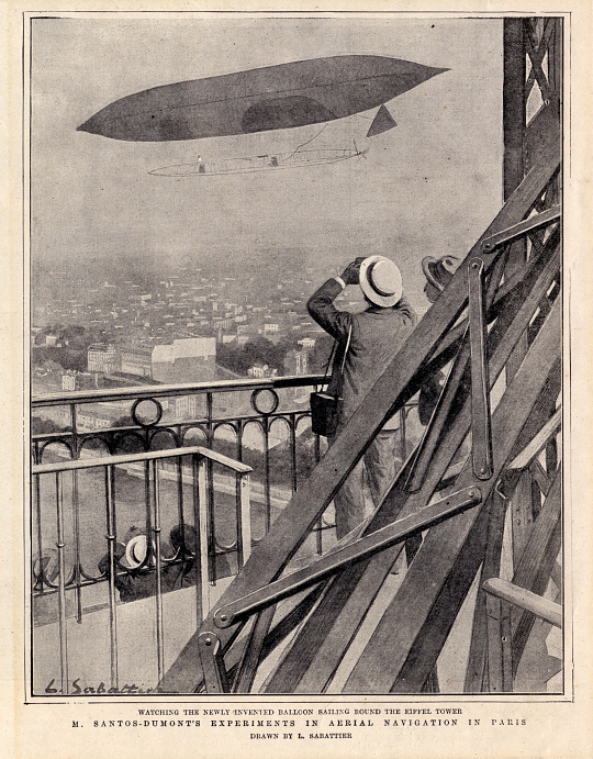 M. Santos-Dumont's Experiments in Aerial Navigation in Paris