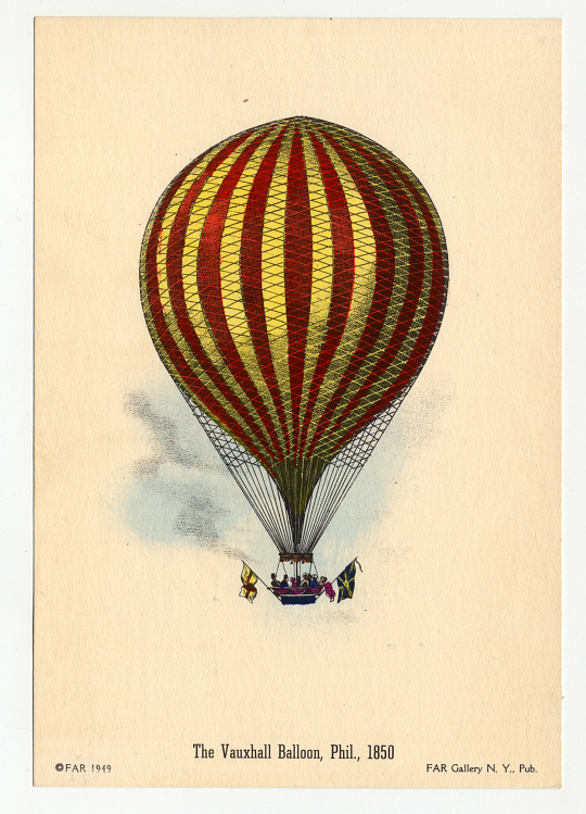 The Vauxhall Balloon, Phil., 1850