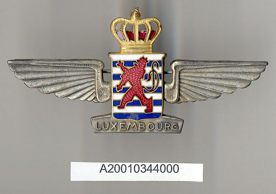Badge, Pilot, Luxembourg Airlines