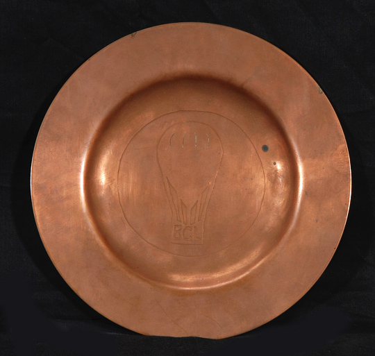 Plate, Brass/Copper, Decorative