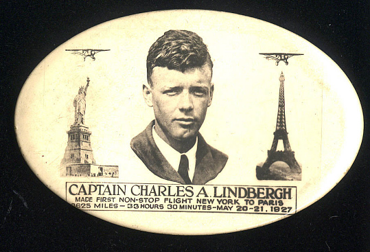 Pocket Mirror, Lindbergh, King Collection