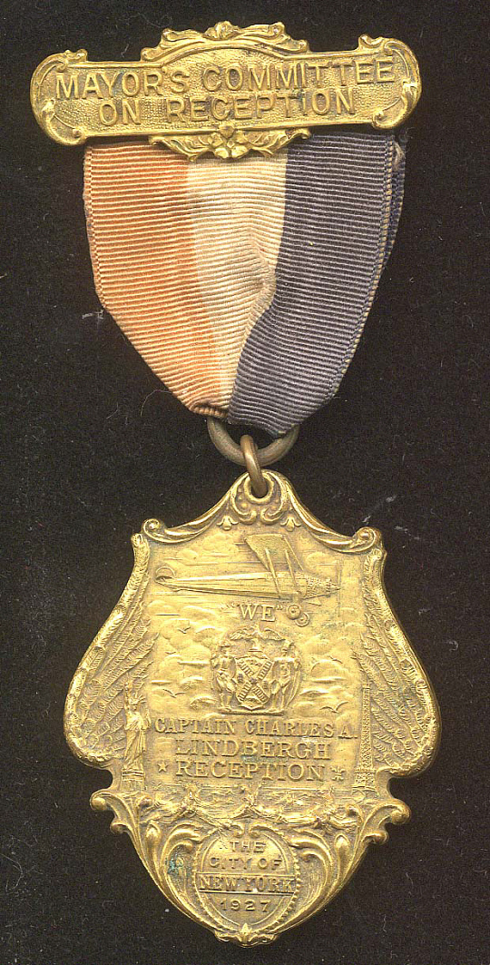 Medal, Lindbergh, King Collection