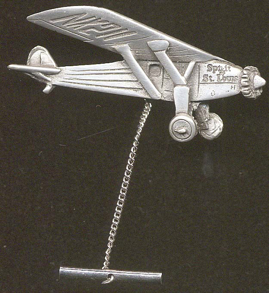 Tie Tack, Airplane Model, Lindbergh, King Collection