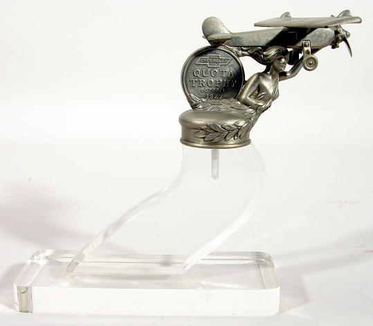 Award, Automotive Hood Ornament, Airplane, Lindbergh, King Collection