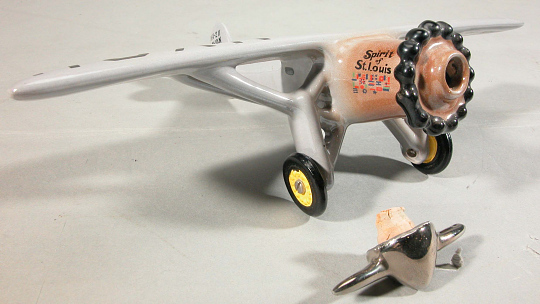 Decanter, Airplane Model, Lindbergh, King Collection