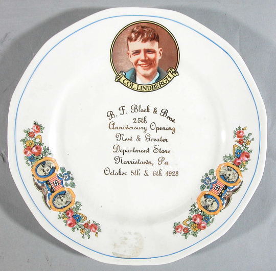 Plate, Lindbergh, King Collection
