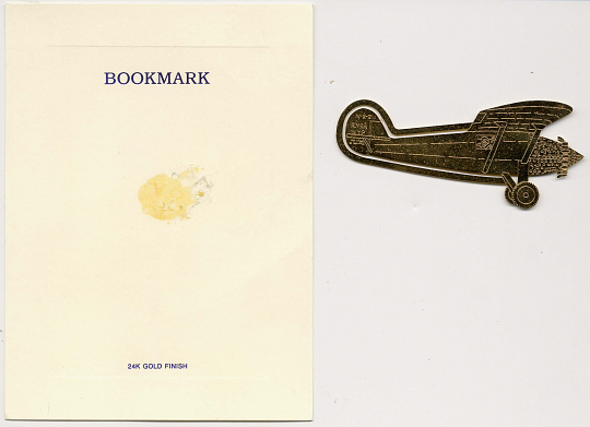 Bookmark, Lindbergh, King Collection