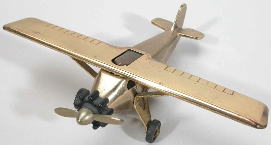 Lighter, Airplane Model, Lindbergh, King Collection
