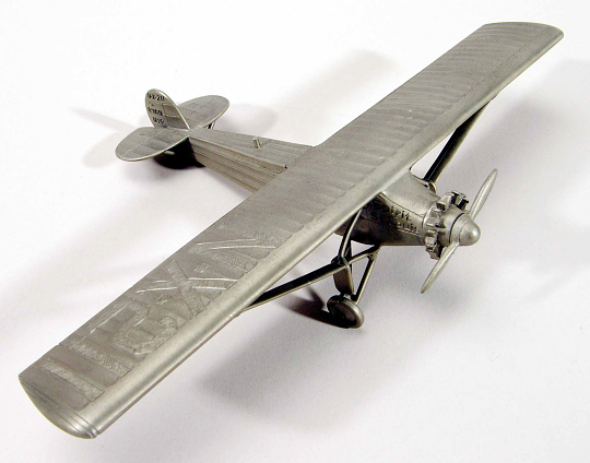 Ornament, Airplane Model, Lindbergh, King Collection