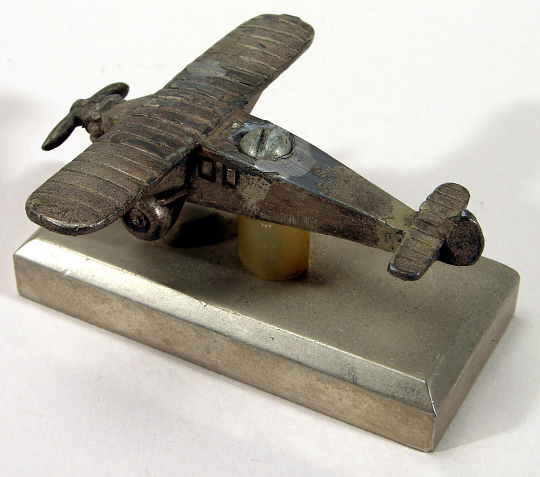 Paperweight, Airplane Model, Lindbergh, King Collection