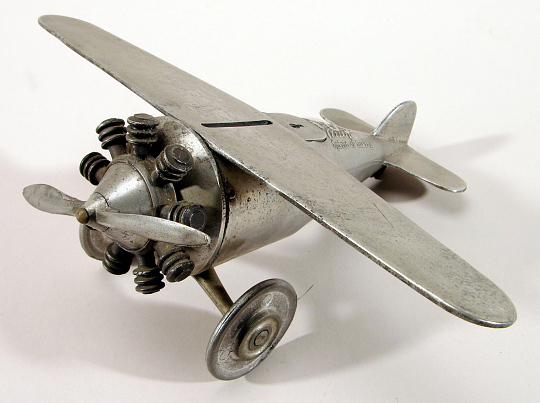 Coin Bank, Airplane Model, Lindbergh, King Collection