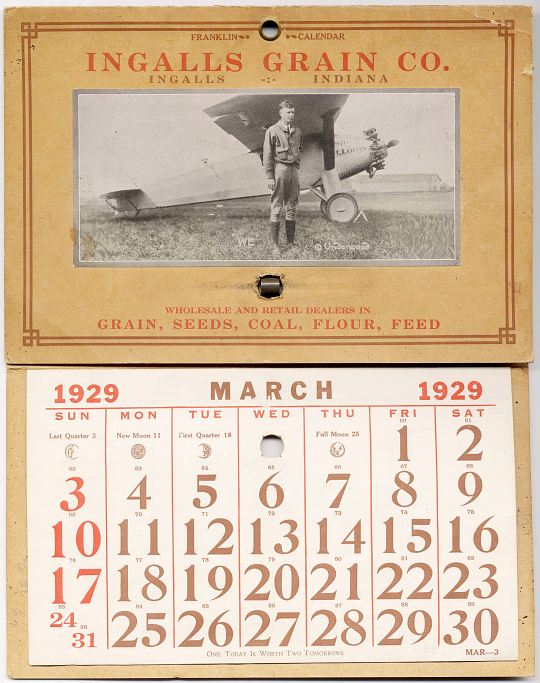 Calendar, Advertisement, Lindbergh, King Collection