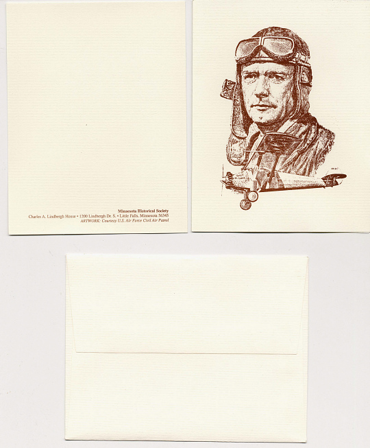 Cards and Envelopes, Lindbergh, King Collection