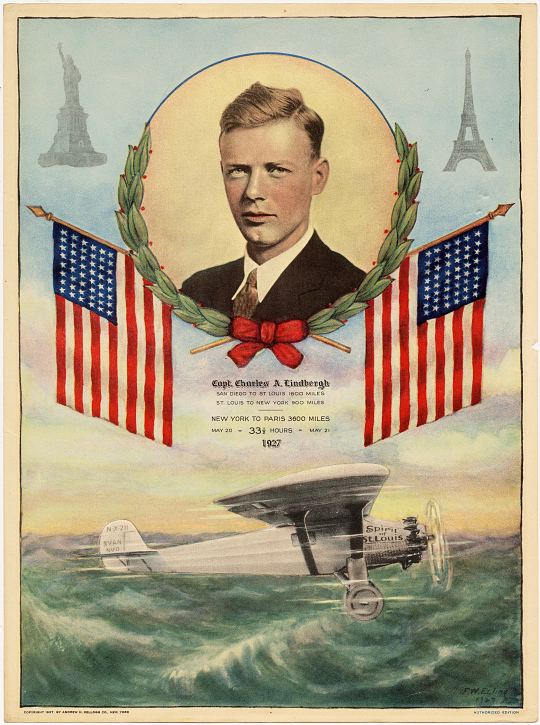 Poster, Print, Lindbergh, King Collection