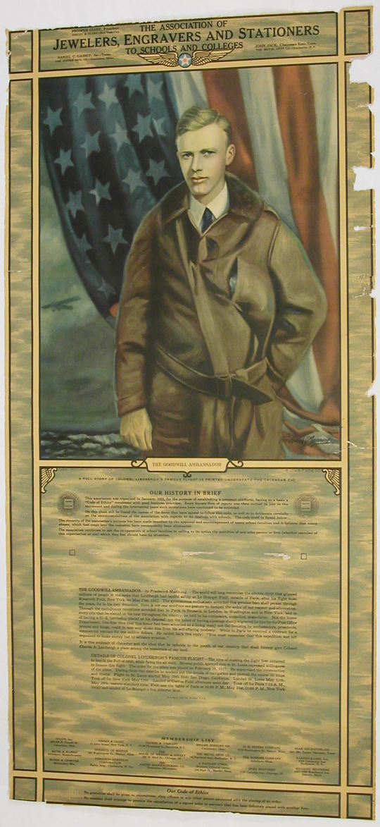 Poster, Advertisement, Lindbergh, King Collection
