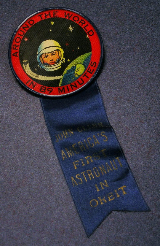 Button, John Glenn orbit