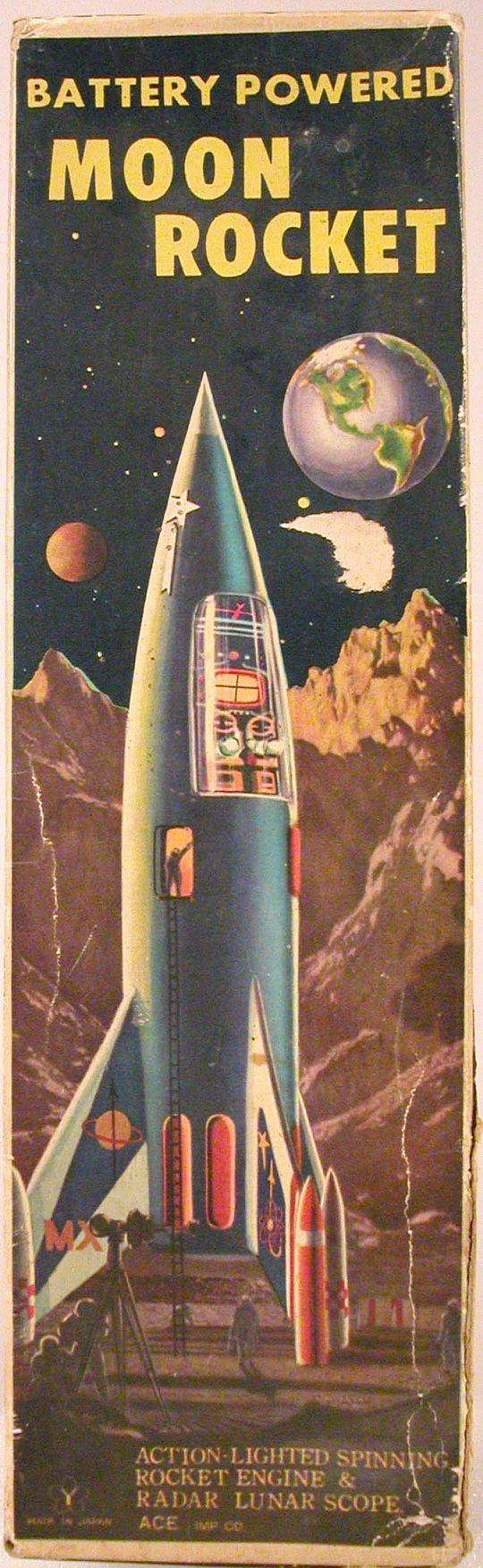 Box,Tin Toy, Moon Rocket