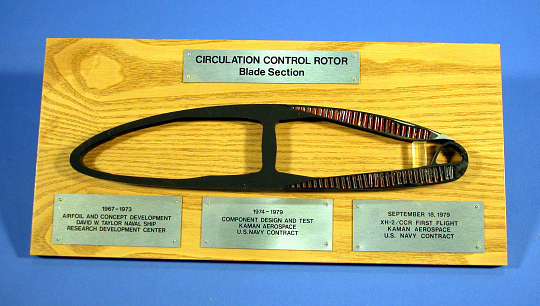 Plaque, Kaman Helicopter, Airfoil Section, Boundary Layer Control Rotor Blade