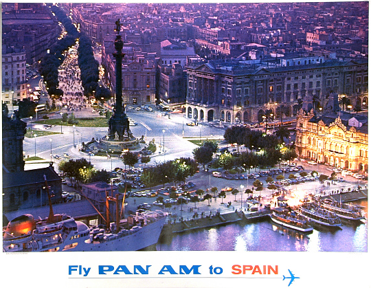 Fly Pan Am to Spain