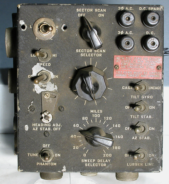 C-33A Control Unit, AN/APS-15 Radar Equipment