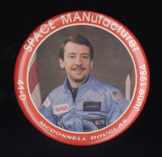"Button, ""SPACE MANufacturer"", McDonnell Douglas"