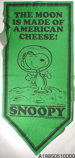 Banner, NASA Flight Safety, Snoopy, Green