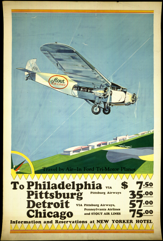 Stout Airlines: Travel By Air-In Ford Tri-Motor Planes