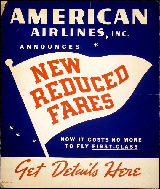 American Airlines New Reduced Fares