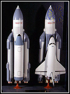Model, Rocket, Launch Vehicle, Energia with Buran Shuttle