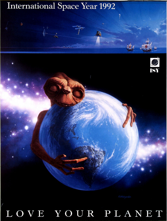 International Space year 1992 Love Your Planet