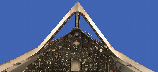Cockpit of Lockheed SR-71A Blackbird