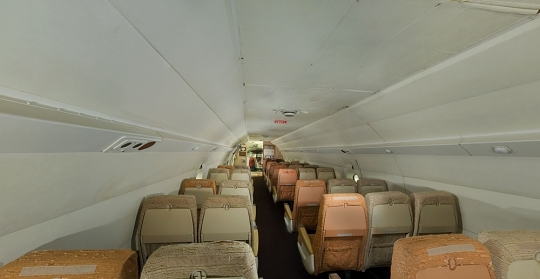 Boeing 367-80 Jet Transport Rear Cabin Panorama