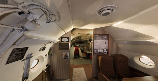 Boeing 367-80 Jet Transport Cabin Panorama
