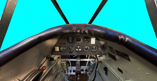 Ryan PT-22A Recruit Rear Seat Panorama