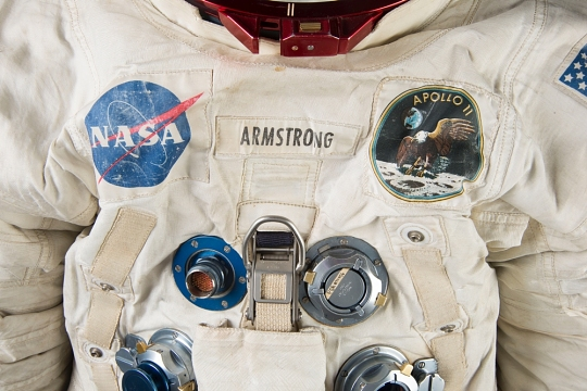 Detail of Armstrong's Suit