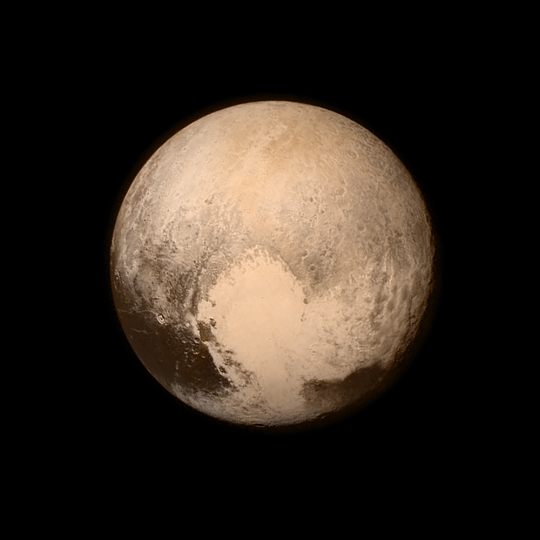 Pluto's Big Heart in Color
