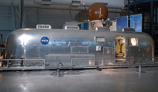 Mobile Quarantine Facility (Apollo 11) at the Udvar-Hazy Center