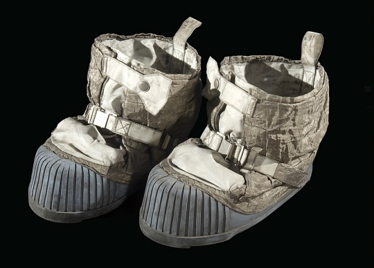 Eugene Cernan's Lunar Boots at the National Air and Space Museum