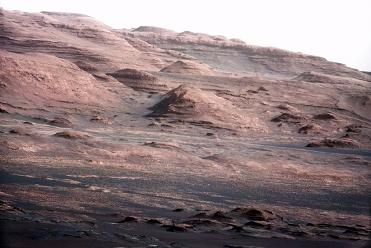 Layered Rock on Mars