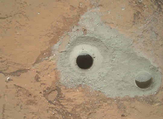 First Sample Drilling on Mars
