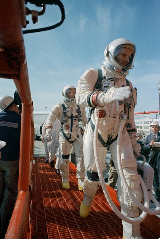 Neil Armstrong and David Scott Board Gemini VIII