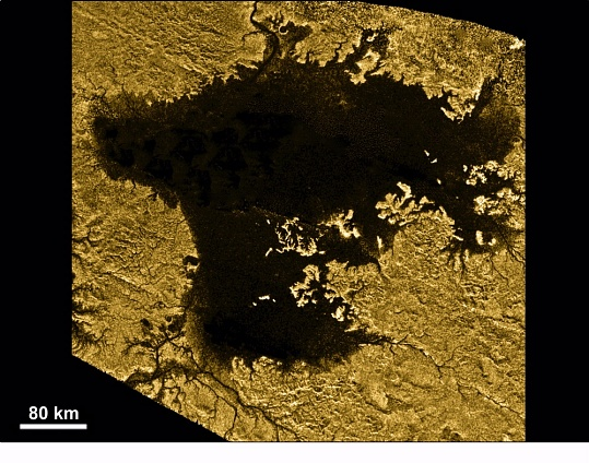 Ligeia Mare on Titan, Saturn's Satellite