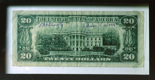 Webb Signed 20-dollar bill