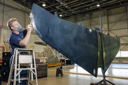 Preparing the Helldiver's Tail Section for Painting