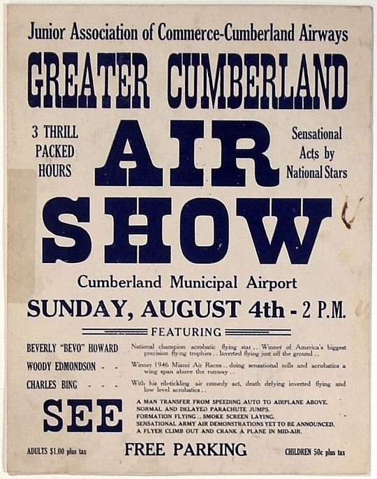Greater Cumberland Air Show poster