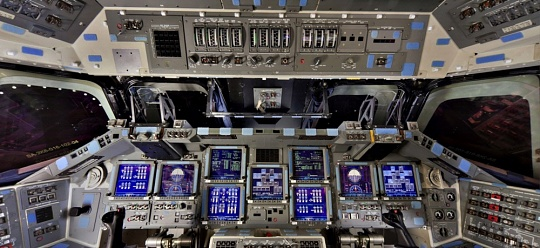 Space Shuttle <em>Discovery</em> Flight Deck Panorama