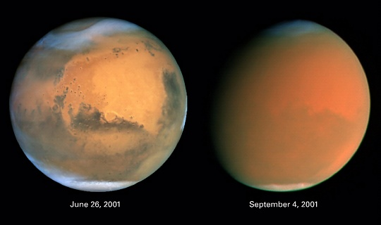 "Scientists Track ""Perfect Storm"" on Mars"