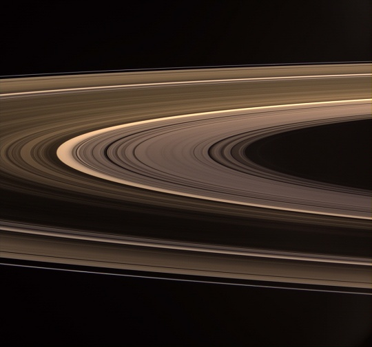 Saturn Rings Aglow