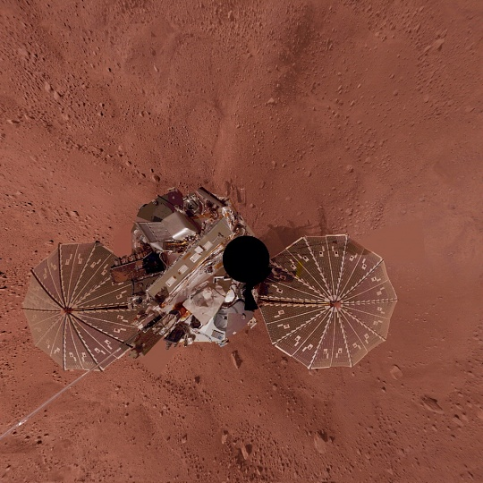 Phoenix Lander Self Portrait on Mars